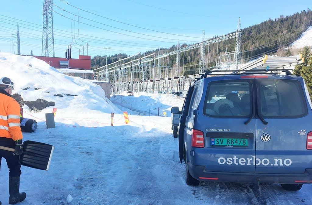 Trygg reservekraft til viktig trafostasjon