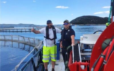 Vann vaskekontrakt i Middelhavet med Østerbø Yanmar notvaskar