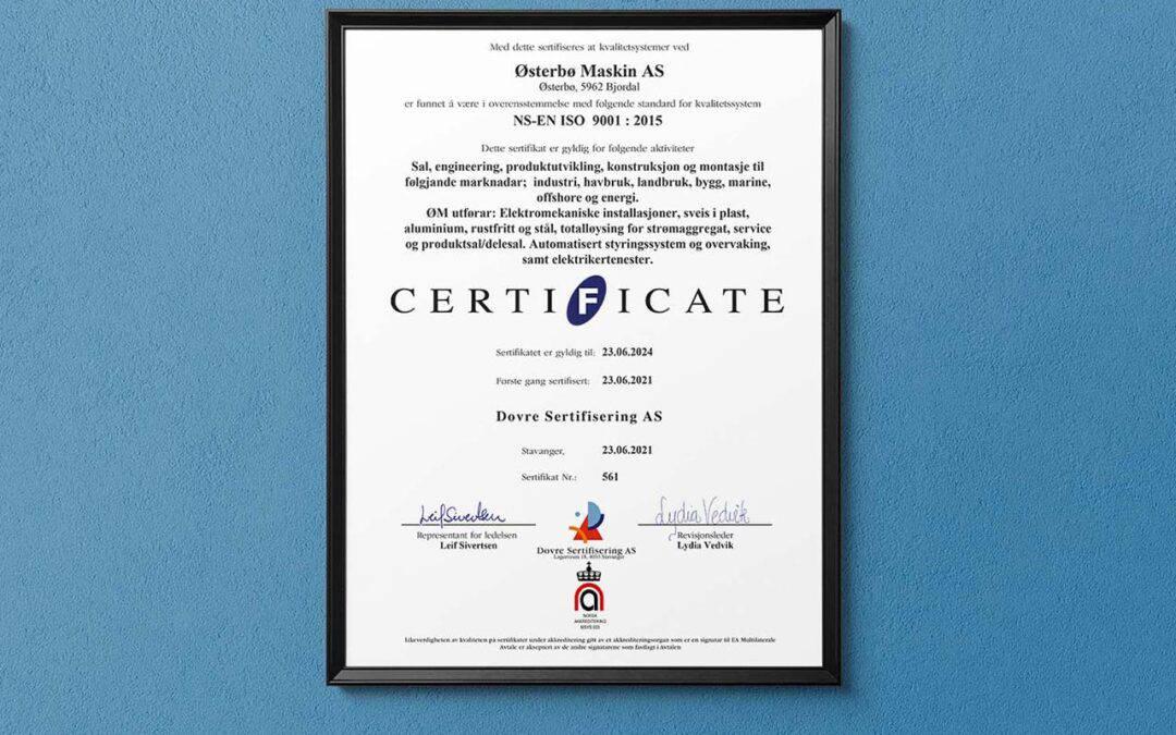 Iso-sertifisert